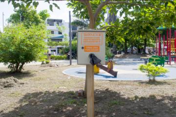 Biota Donó e instaló dispensador de bolsas en el Parque Infantil de Barrancabermeja.